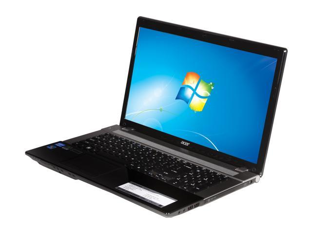 Acer Laptop Aspire V3-771G-9875 Intel Core i7 3610QM (2.30 GHz) 6 GB Memory 750 GB HDD NVIDIA GeForce GT 650M 17.3