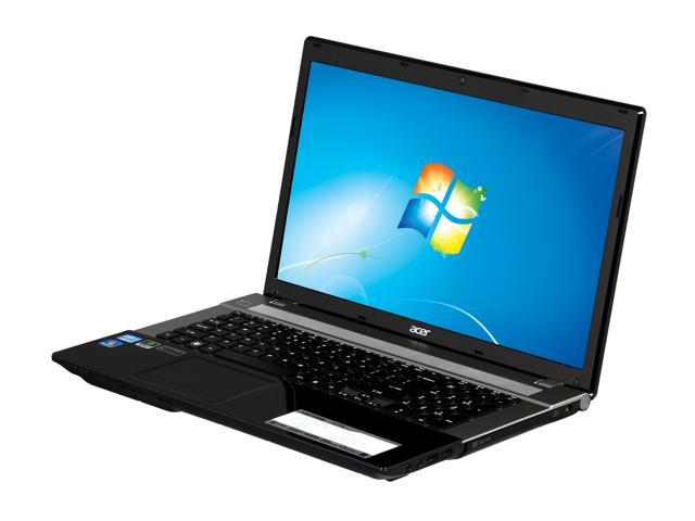 Acer Laptop Aspire V3-771G-9665 Intel Core i7 2670QM (2.20 GHz) 8 GB Memory 750 GB HDD NVIDIA GeForce GT 640M 17.3