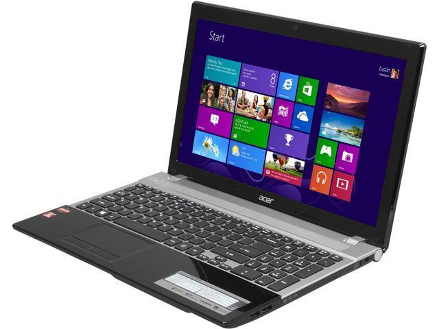 Acer Laptop V3-551-7423 AMD A6-Series A6-4400M (2.70 GHz) 4 GB Memory 500 GB HDD AMD Radeon HD 7520G 15.6