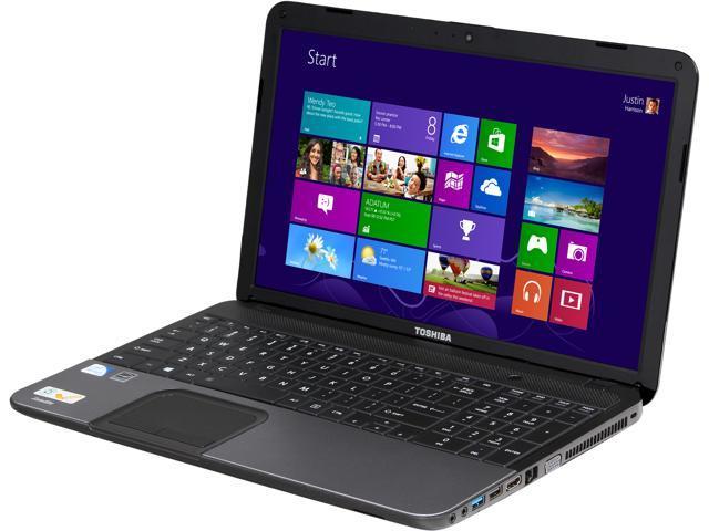 TOSHIBA Laptop Satellite C855-S5132NR Intel Pentium 2020M (2.40 GHz) 4 GB Memory 500 GB HDD Intel HD Graphics 4000 15.6