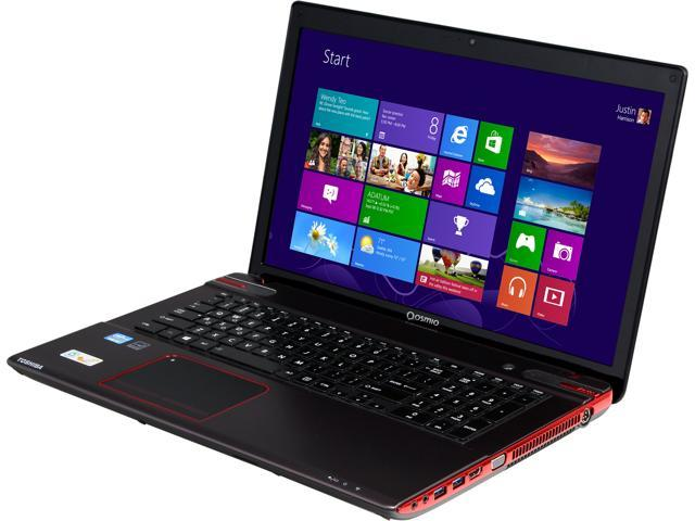 TOSHIBA Qosmio X875-Q7190 Gaming Laptop Intel Core i7 3630QM (2.40 GHz) 12 GB Memory 1 TB HDD NVIDIA GeForce GTX 670M 3 GB 17.3