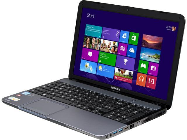 "TOSHIBA Laptop Satellite S855-S5164 Intel Core i5 3230M (2.60 GHz) 6 GB Memory 750 GB HDD AMD Radeon HD 7670M 15.6"" Windows ..."