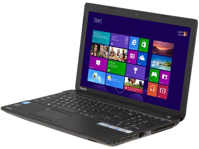 TOSHIBA Laptop Satellite C55-A5242 Intel Celeron 1037U (1.80 GHz) 4 GB Memory 500 GB HDD Intel HD Graphics 15.6