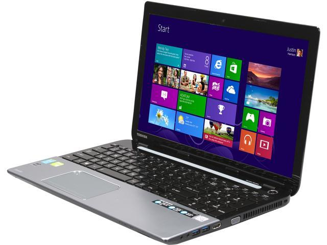 TOSHIBA Laptop Satellite S55-A5276 Intel Core i7 4700MQ (2.40 GHz) 6 GB Memory 500 GB HDD NVIDIA GeForce GT 740M 15.6
