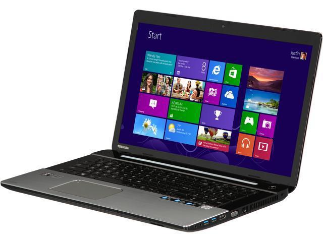 TOSHIBA Laptop Satellite S75D-A7346 AMD A10-Series A10-5750M (2.50 GHz) 8 GB Memory 1 TB HDD AMD Radeon HD 8650G 17.3