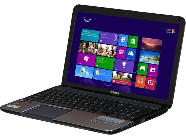 "TOSHIBA Laptop S855D-S5120 AMD A10-Series A10-4600M (2.30 GHz) 8 GB Memory 750 GB HDD AMD Radeon HD 7660G 15.6"" Windows 8"