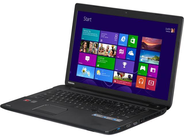 "TOSHIBA Laptop Satellite C75D-A7130 AMD A6-Series A6-5200 (2.00 GHz) 6 GB Memory 750 GB HDD AMD Radeon HD 8400 17.3"" Windows ..."