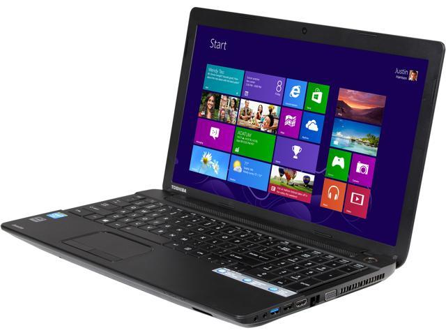 TOSHIBA Laptop Satellite C55-A5140 Intel Celeron N2820 (2.13 GHz) 4 GB Memory 500 GB HDD Intel HD Graphics 15.6