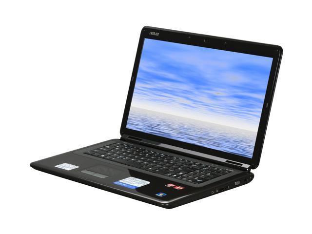 "ASUS Laptop K70AB-X2A AMD Turion X2 RM-75 (2.20 GHz) 4 GB Memory 320 GB HDD ATI Mobility Radeon HD 4570 17.3"" Windows 7 Home ..."