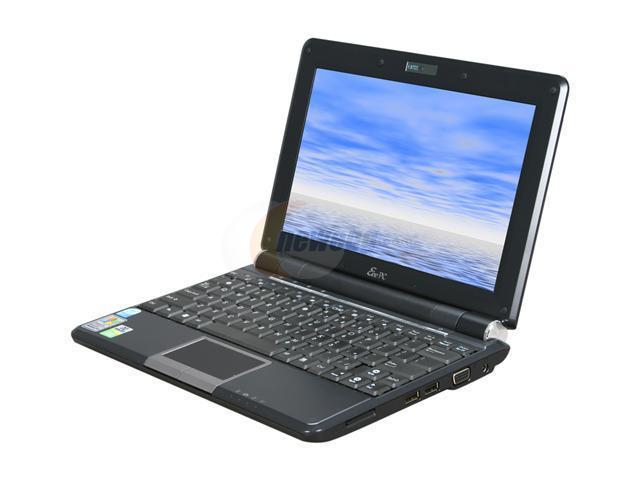 """ASUS Eee PC 1000H-BLKBY1X-FR Black 10.1"""" WSVGA NetBook"""