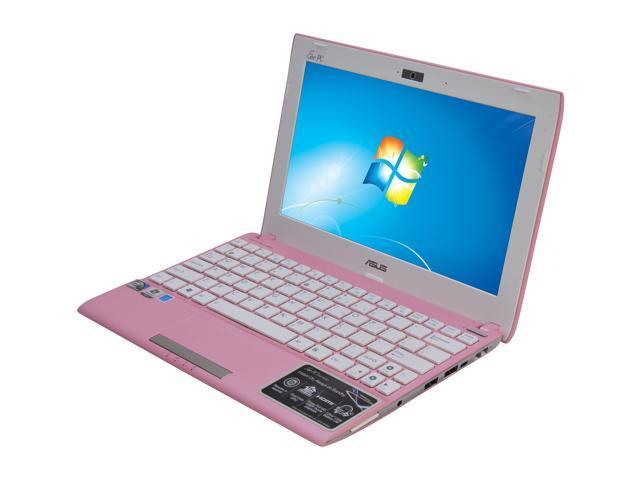 """ASUS Eee PC 1025C-MU17-PK Matte Pink 10.1"""" WSVGA Netbook"""