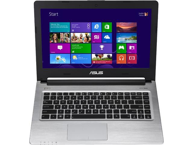 """ASUS S46CA Intel Core i5 4GB DDR3 500GB HDD+24GB SSD 14"""" Ultrabook Win7 Pro - Black (S46CA-XH51)"""