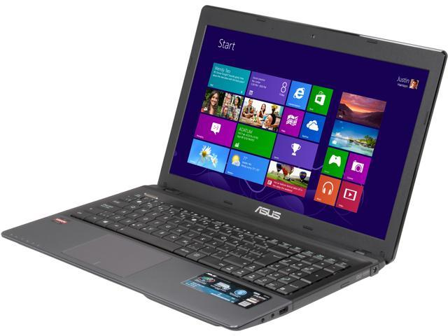 "ASUS Laptop K55N-BH81-CB AMD A8-Series A8-4500M (1.90 GHz) 8 GB Memory 750 GB HDD AMD Radeon HD 7640G 15.6"" Windows 8"