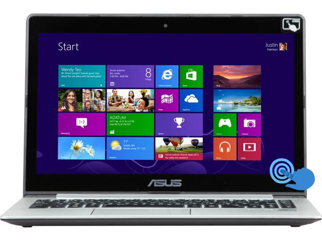 "ASUS VivoBook S400CA-BSI3T12 Intel Core i3 4 GB Memory 500 GB HDD 24 GB SSD 14"" Touchscreen Ultrabook Windows 8 (64-bit)"