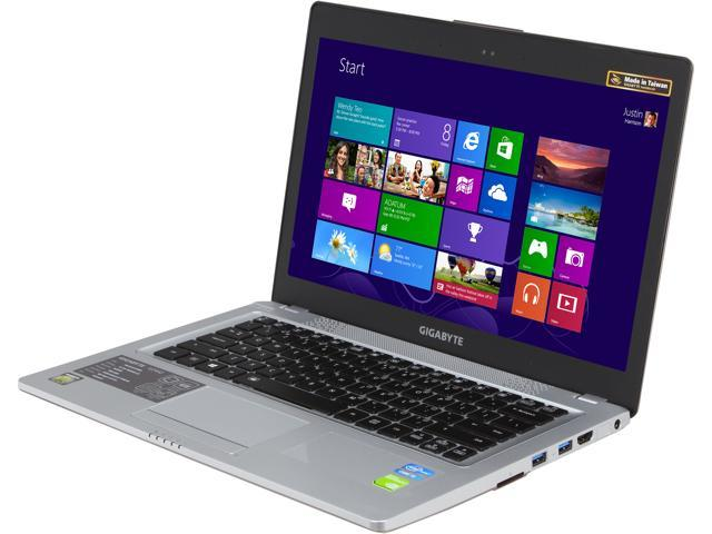 "GIGABYTE U2442D-CF1 14.0"" Windows 8 Laptop"