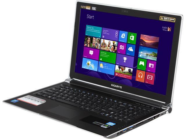 """GIGABYTE P2542G-CF3 15.6"""" Windows 8 Laptop"""