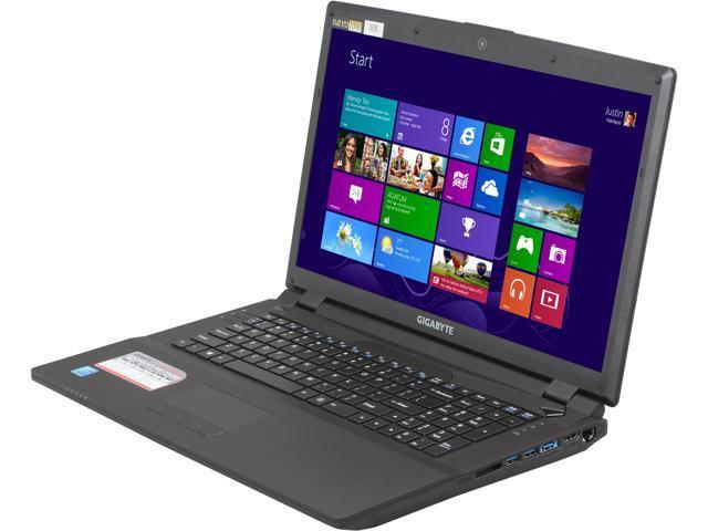 GIGABYTE Laptop P2742G-CF1 Intel Core i7 3630QM (2.40 GHz) 8 GB Memory 1 TB HDD 128 GB SSD NVIDIA GeForce GTX 660M 17.3