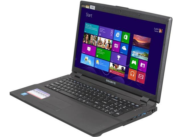 GIGABYTE Laptop P2742G-CF2 Intel Core i7 3630QM (2.40 GHz) 8 GB Memory 750 GB HDD 128 GB SSD NVIDIA GeForce GTX 660M 17.3