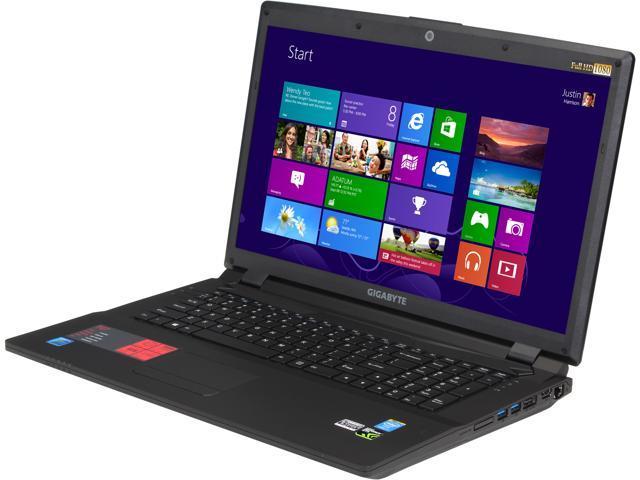 "GIGABYTE P27Gv2-CF1 Gaming Laptop Intel Core i7-4810MQ 2.8GHz 17.3"" Windows 8.1"