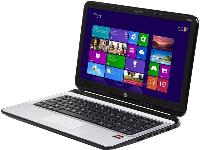 HP Sleekbook Pavilion 14-b110us AMD A4-Series A4-4355M (1.9 GHz) 4 GB Memory 500 GB HDD AMD Radeon HD 7400G 14.0