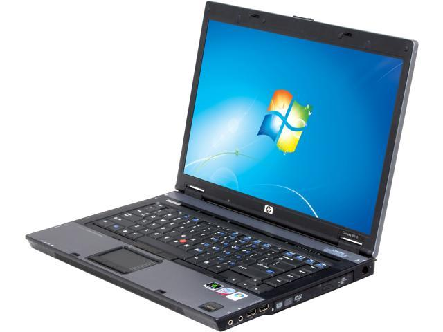 HP Compaq Laptop 8510 Intel Core 2 Duo 2.00 GHz 2 GB Memory 80 GB HDD NVIDIA Quadro FX 570M 15.4
