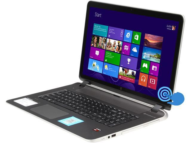 """HP Laptop Pavilion 17-f020us AMD A8-Series A8-6410 (2.00 GHz) 6 GB Memory 750 GB HDD AMD Radeon R5 Series 17.3"""" Touchscreen ..."""