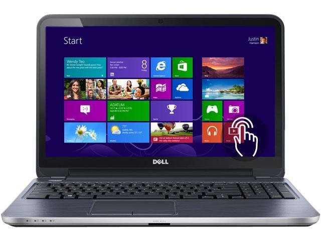 "DELL Laptop Inspiron i15RMT-7566sLV Intel Core i5 4200U (1.60 GHz) 8 GB Memory 1 TB HDD Intel HD Graphics 4400 15.6"" Touchscreen ..."