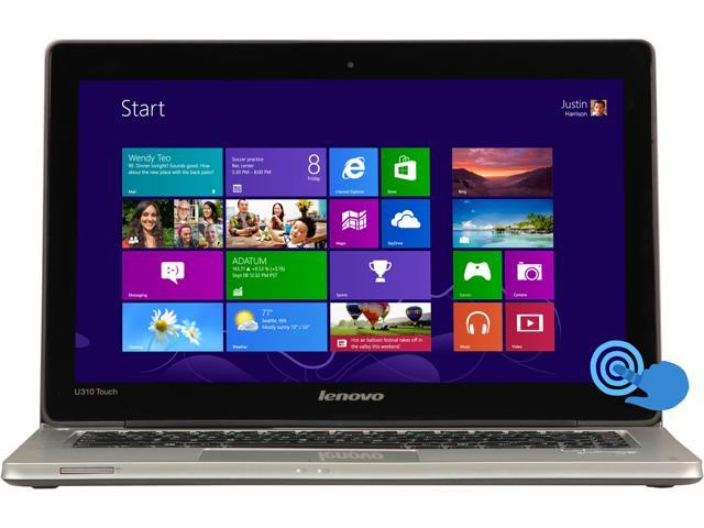 "Lenovo IdeaPad U310 (59366627) Intel Core i3 4 GB Memory 500 GB HDD 24 GB SSD 13.3"" Touchscreen Ultrabook Windows 8"