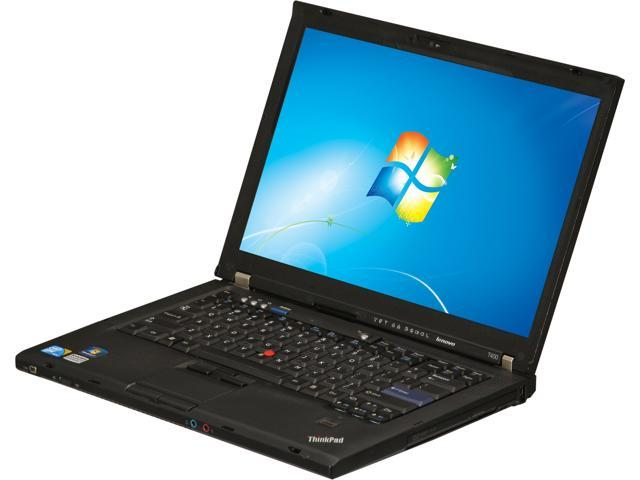 Lenovo Laptop ThinkPad T400 Intel Core 2 Duo 2.53 GHz 4 GB Memory 160 GB HDD Intel GMA 4500M 14.1
