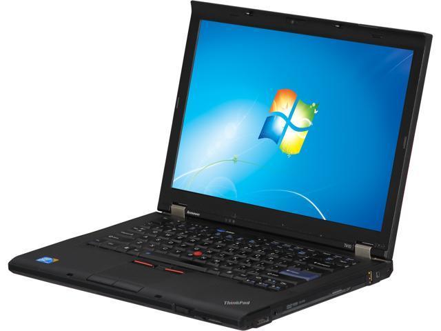 "ThinkPad Laptop T410/2.4G/4G/128/W7P Intel Core i5 520M (2.40 GHz) 4 GB Memory 128 GB SSD 14.0"" Windows 7 Professional 64 ..."