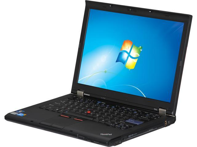 "ThinkPad Laptop T410 Intel Core i5 2.5 GHz 4 GB Memory 160 GB HDD Integrated Graphics 14.1"" Windows 7 Home Premium"