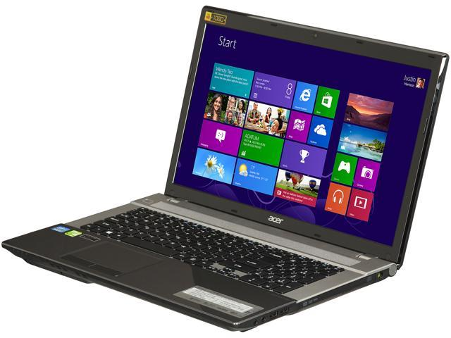 Acer Laptop Aspire V3-771G-9823 Intel Core i7 3rd Gen 3630QM (2.40 GHz) 12 GB Memory 1 TB HDD 128 GB SSD NVIDIA GeForce GT 730M 17.3