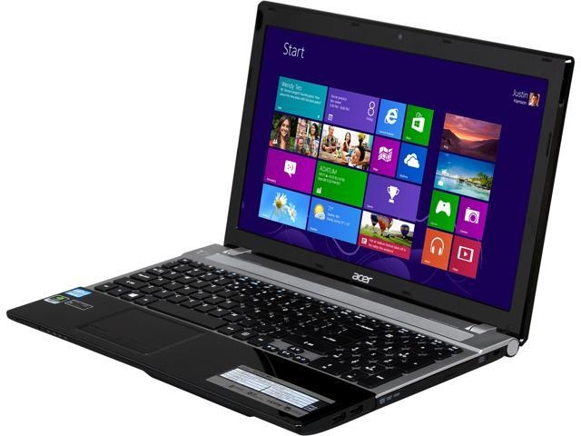 Acer Laptop Aspire V3-571G-9683 Intel Core i7 3rd Gen 3630QM (2.40 GHz) 6 GB Memory 500 GB HDD NVIDIA GeForce GT 730M 15.6