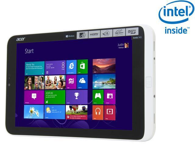 Acer Iconia Tab W Series W3-810-1600 Intel Atom 2GB DDR2 Memory 32 GB 8.1