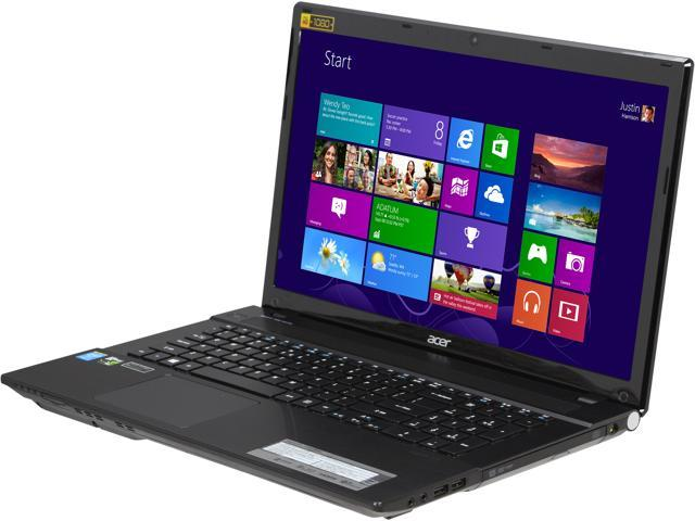 Acer Aspire V3-772G-9653 Gaming Laptop Intel Core i7 4702MQ (2.20 GHz) 8 GB Memory 1 TB HDD NVIDIA GeForce GTX 760M 2 GB 17.3