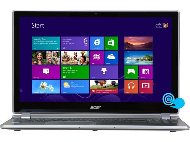 "Acer Aspire V7-582P-6673 Intel Core i5 8 GB Memory 500 GB HDD 20 GB SSD 15.6"" Touchscreen Ultrabook Windows 8"