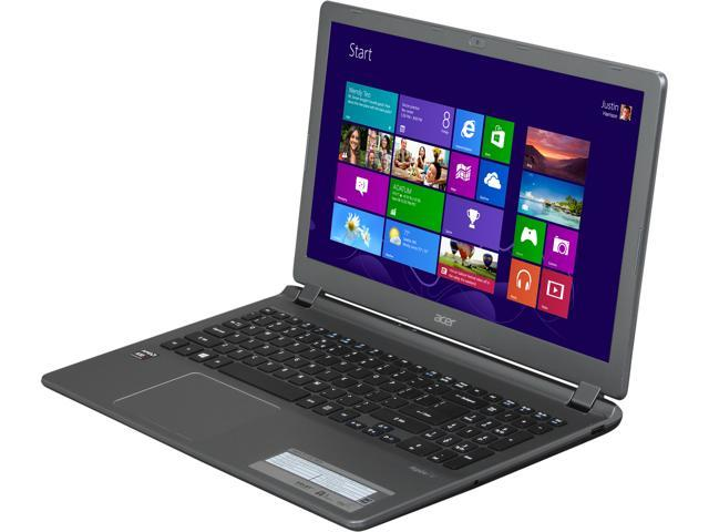 "Acer Laptop Aspire V5 V5-552-X814 AMD A10-Series A10-5757M (2.50 GHz) 6 GB Memory 750 GB HDD AMD Radeon HD 8650G 15.6"" Windows ..."