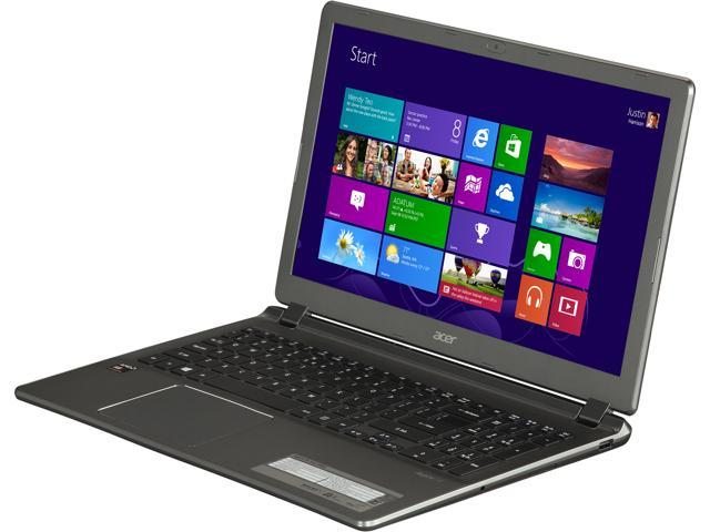 Acer Laptop V5-552-8404 AMD A8-Series A8-5557M (2.10 GHz) 4 GB Memory 500 GB HDD AMD Radeon HD 8550G 15.6