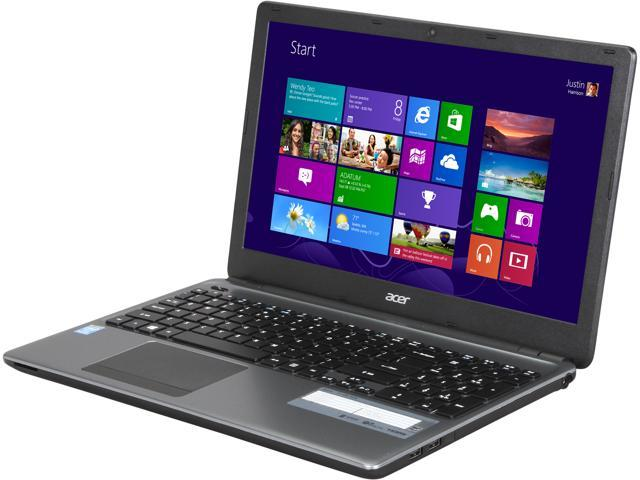 "Acer Laptop Aspire E1-530-4416 Intel Pentium 2117U (1.80 GHz) 4 GB Memory 500 GB HDD Intel HD Graphics 15.6"" Windows 8 64-Bit"