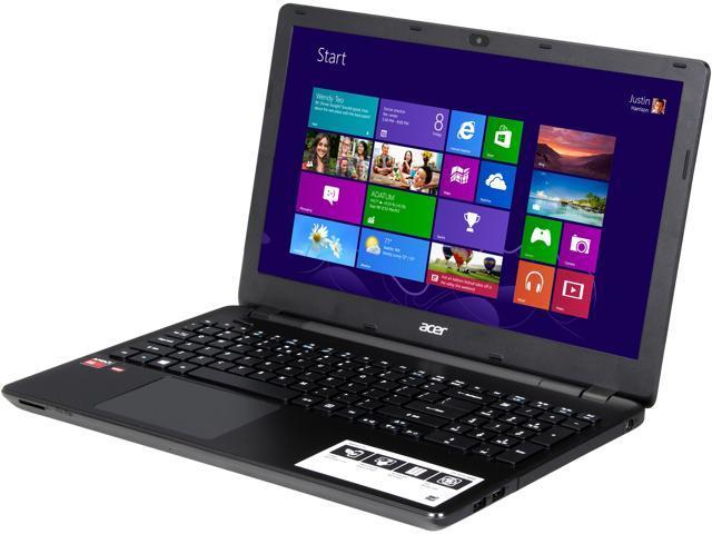 "Acer Laptop E5-521G-60BX AMD A6-Series A6-6310 (1.80 GHz) 4 GB Memory 500 GB HDD AMD Radeon R5 M240 15.6"" Windows 8.1 64-Bit"