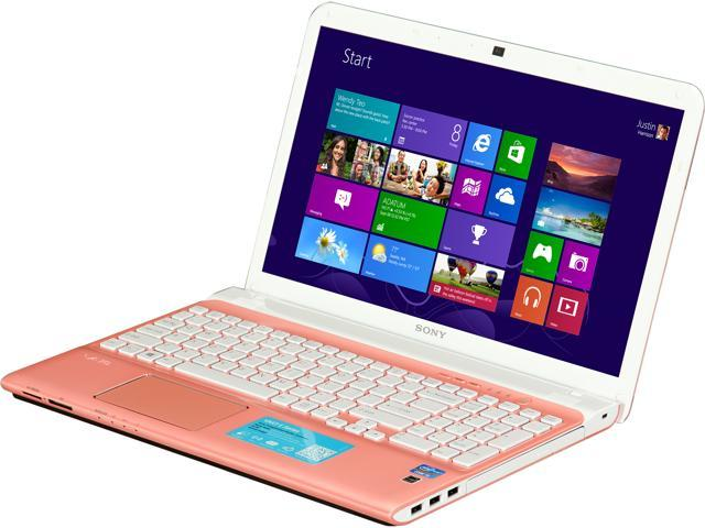 "SONY Laptop E15 Series SVE15126CXP Intel Core i5 2.5 GHz 6 GB Memory 750 GB HDD Intel HD Graphics 4000 15.5"""