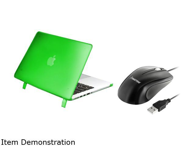 INSTEN Green Snap-in Rubber Case Cover with optical mouse for Apple MacBook Pro Model 1997358