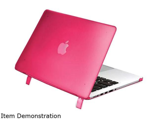 INSTEN Hot Pink Rubber Silicone Soft Skin Gel Case For Apple Macbook Pro with Retina Model 1991126