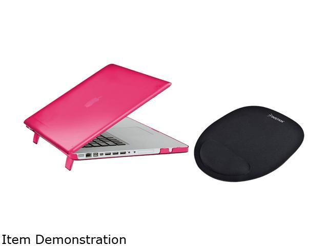 INSTEN Hot pink Snap-in Rubber Case Cover with Comfort Mouse Pad for Apple MacBook Model 1997338