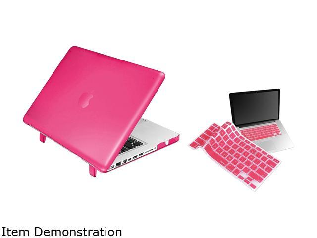 INSTEN Hot Pink Snap-in Rubber Case Cover with Keyboard Skin Shield for Apple MacBook Model 1997716