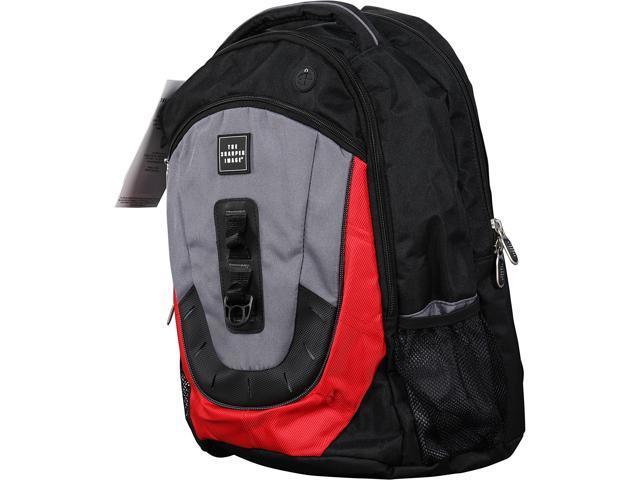 Sharper Image GREY/RED Airtek Back Pack Model ACSHTSI-5037GR, Grade A, like new condition