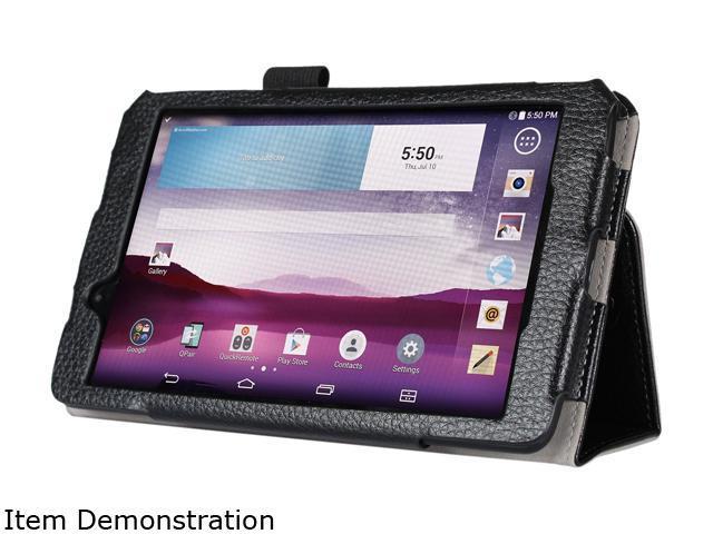 i-Blason Black LG G Pad 7.0 Case - Slim Book Leather Cover with Bonus Stylus Model LG-Gpad-7.0-1Fold-Black