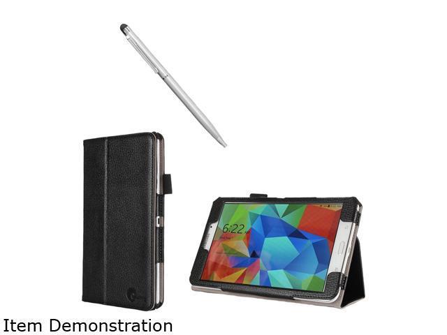 i-Blason Black Samsung Galaxy Tab S 8.4 Case - Slim Book Leather Cover Model Galaxy-TabS-8.4-1Fold-Black