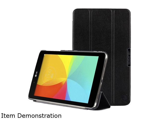 i-Blason Black Asus Memo Pad 8 181C Case - i-Folio Slim Hard Shell Stand Cover Model Asus-Memopad8-181-iFolo-Black