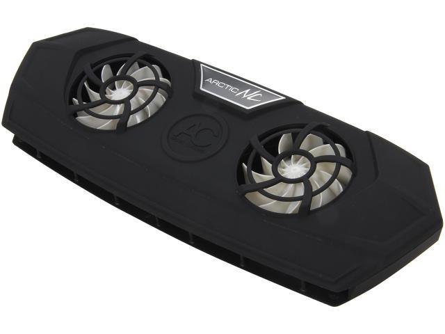 "Arctic Cooling Silent Cooler for 12"" to 19"" Laptops NC (Black)"